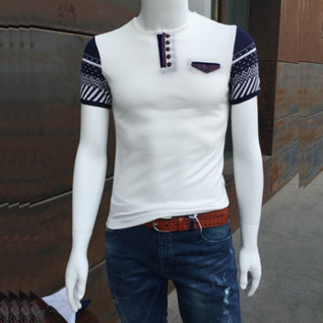 Men Polo Shirts Men's Casual Slim Fit Large Size Short Sleeved Polo Shirts Outwear Camisa Hombre BL