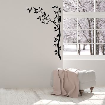 Vinyl Wall Decal Branches Tree Beards Leaves Nature Room Home Interior Stickers Mural (ig5511)