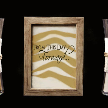 From This Day Forward Rustic Barn Wood Wedding Sand Ceremony Frame Set, Unity Set, Sand Shadow Box Frame