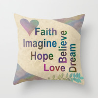Inspirational Throw Pillow by LLL Creations