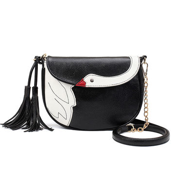 Stylish Korean Cartoons Chain Tassels One Shoulder Messenger Bags [4982894020]