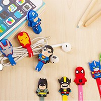 Amazon.com: Fatax 9pcs American heros Multi-charaters Cartoon Silicone Cute Zigzag Headphone...