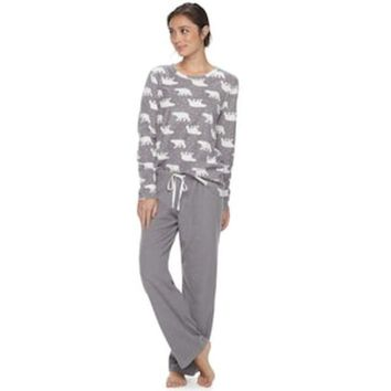 "VONEKT2 Women's SONOMA Goods for Lifeâ""?Pajamas: Microfleece 2-Piece PJ Set 