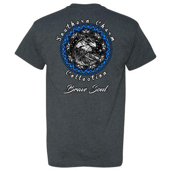 Southern Charm Collection Brave Soul on a Dark Heather Short Sleeve T Shirt