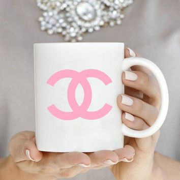 Pink Fashion C Inspired Mug