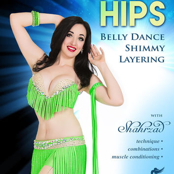 """Shimmering Hips - Belly Dance Shimmy Layering"" DVD with Shahrzad"