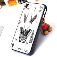 harry style butterfly tattoo one direction iphone case ==== and ==== samsung galaxy case,Black and White