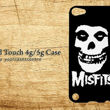 iPod Touch Case MISFITS Horror Punk Rock Apple iPod Touch 4 4g, iPod Touch 5 5g Hard Back Case Cover Casing Protecter
