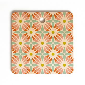 Heather Dutton Crazy Daisy Sorbet Cutting Board Square
