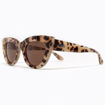 Quay Eyeware Kitti Sunglasses in Milky Tortoise