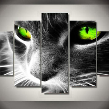 Cats Eye Limited Edition 5-Piece Wall Art Canvas