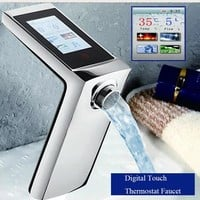 Touch Screen Thermostat Faucet Smart Display Water Flow And Temperature