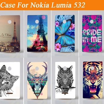 New Design Pattern  case For Nokia Lumia 532/ ultra thin transparent mobile phone shell cover for nokia lumia 532