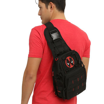 Marvel Deadpool Logo Sling Backback