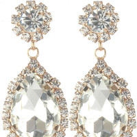 Gorgeous rhinestone fashion earrings  MME24688gdcl