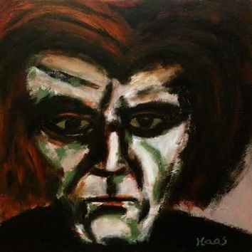 Beethoven - The Mad Composer - Oil Painting - Original - Honeyscolors - 12 x 12 - Classical Music - Art