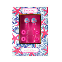 Earbuds with Volume Control in She She Shells by Lilly Pulitzer