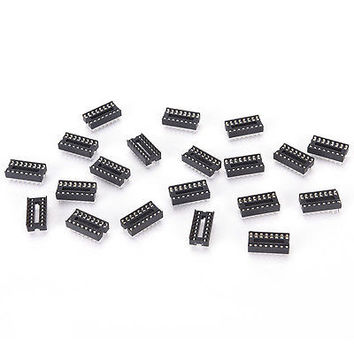 20PCS 16-Pins DIP IC Sockets Adaptor Solder Type Socket TB