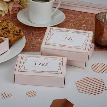 Beautiful Rose gold Cake boxes-10 pack-Wedding cake-Christening cake-Anniversary cake-Birthday cake