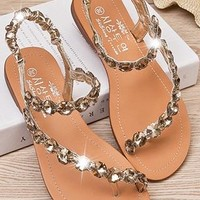 Fashion leisure Rhinestone Sandal