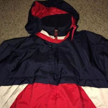 CREY9N Sale!! Vintage 1980s FILA winter coats hooded windbreaker jacket