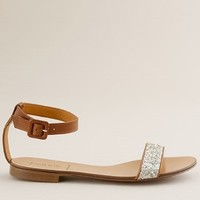 Women's new arrivals - shoes - Crushed glitter sandals - J.Crew