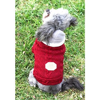 Aran Irish Knit Dog Sweater