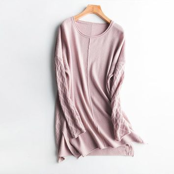 Cashmere Knit Tunic Sweater -3 Colors