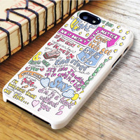 Half A Heart Art Song Lyrics Music Art iPhone 6 | iPhone 6S Case