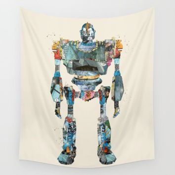 modern iron giant Wall Tapestry by Bri.buckley