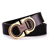 Mens Smooth Leather Belt 33mm Wide