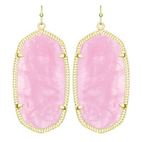 Kendra Scott Danielle Drop Earrings Rose Quartz