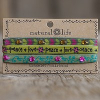 Peace  Lilly  &  Grace  Bracelet/Hairbands  From  Natural  Life