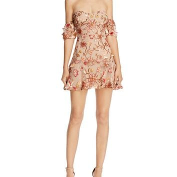For Love & Lemons Botanical Off-the-Shoulder Dress | Bloomingdales's
