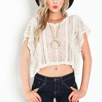 Crochet Poncho Crop Top - LoveCulture
