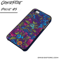 Floral Flower Purple Forest Case For Iphone 4/4S Case