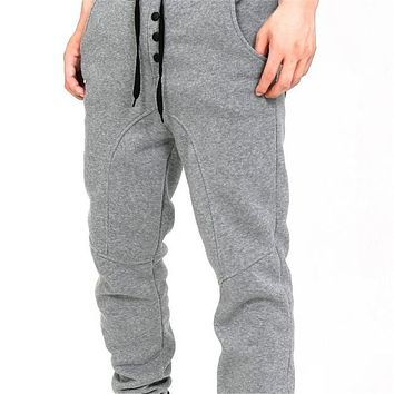 Men's Long Pants,Muscle Casual Pants,Men Leisure Harem Pants,Men's Full Length Pants