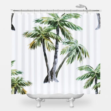 Tropical Palms Shower Curtain