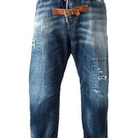 DSQUARED2 buckle strap detail straight jeans