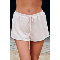 Sirena Knit Shorts (Dusty Peach)