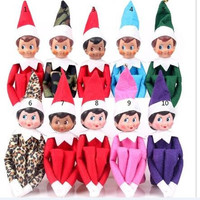 37cm Christmas Doll The Elf On The Shelf Christmas Tradition Kids Plush Doll Toys or Book for Kids New Year/Xmas/Birthday gifts