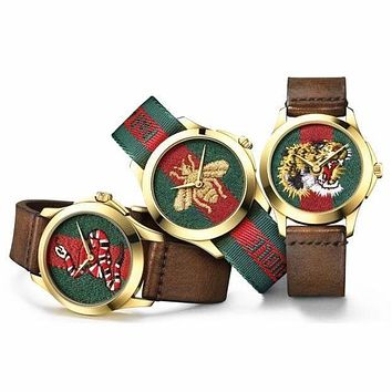 GUCCI Ladies Fashion Trending Bee Embroidery Watch Business Watches Wrist Watch G