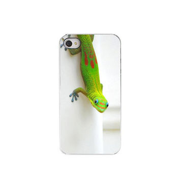 IPhone 4 Case Neon Green GeckoSummer Fun by Maddenphotography