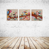 Art print, Canvas Art, Canvas picture, Nursery print set, Children