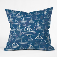 Lisa Argyropoulos Sail Away Blue Throw Pillow