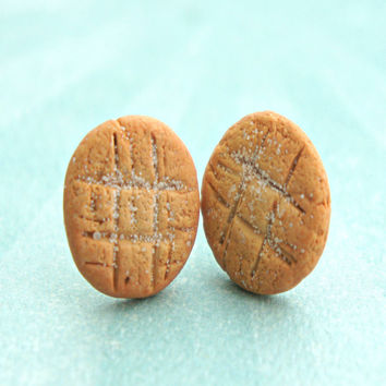 Peanut Butter Cookies Stud Earrings
