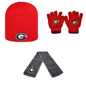 Licensed NCAA  Classic Beanie Hat Hail Scarf And Knit Gloves 3 Pack 37633 KO_19_1