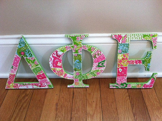 Delta phi epsilon greek letters lilly from perpetualprep for Lilly pulitzer sorority letters