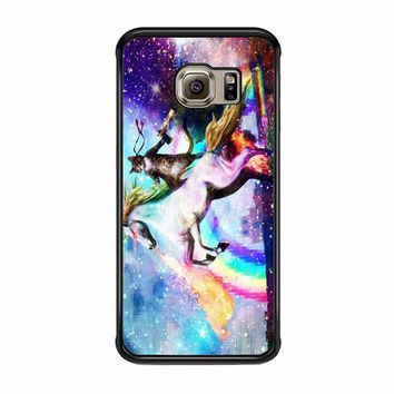 cat riding horse with gun nebula samsung galaxy s7 s7 edge s3 s4 s5 s6 cases