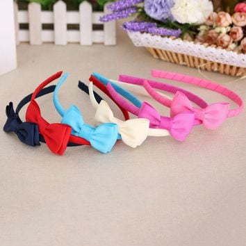 1pc cute grosgrain bows baby toddler hairbands kids headbands children hair hoop boutique tiara hair accessories for girl